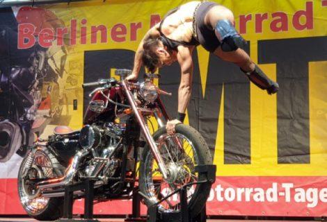 Motorbike handstand